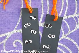 eyeball halloween bookmarks kid craft glued to my crafts
