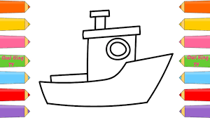 how to draw ship a boat coloring pages for kids nursery