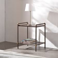 corvus matera industrial end table free shipping today
