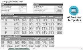 monthly amortization schedule excel templates at