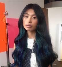 2015 hair color oil slick rainbow hair colour popsugar beauty australia