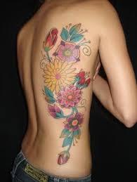 colorful flower garden tattoo on back tattoo ideas i u0027ve inked