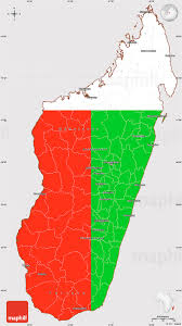 Madagascar Map Flag Simple Map Of Madagascar Flag Aligned To The Middle