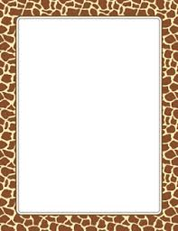 new page borders giraffe print thanksgiving and more