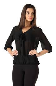 black pussybow blouse black bow top myvoute