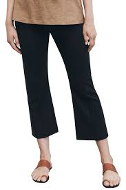 maternity trousers design once on never kick flare maternity trousers in black