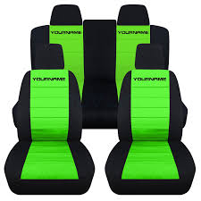 Black And Lime Green Mustang Amazon Com 2011 2014 Ford Mustang 2 Tone Seat Covers With Your