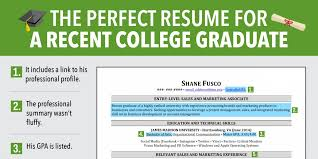 college graduate resume recent college graduate resume resume templates