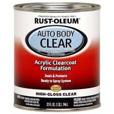 rust oleum automotive 1 qt auto body clear coat paint case of 2