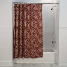Fabric Shower Curtain With Window Floating Leaves Print Fabric Shower Curtain Window Toppers