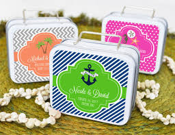 Suitcase Favors by Of Memories Personalized Suitcase Favor Tins Set Of 12