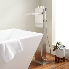 Standing Water In Bathtub Grotto Freestanding Thermostatic Waterfall Tub Faucet Bathroom