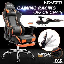 reclining gaming desk chair high back gaming sports racing recliner seat crazy sales