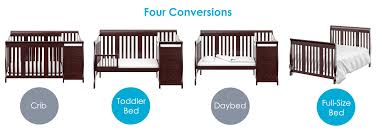 Cribs That Convert Into Full Size Beds by Amazon Com Stork Craft Portofino 4 In 1 Fixed Side Convertible