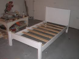 twin bed frame wood white frame decorations