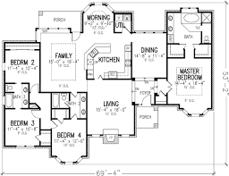 single floor house plans plan 19187gt single story powder room kitchen dining