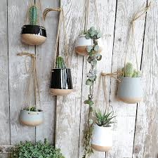 Ceramic Hanging Planter Pot With Jute String Buy Online At Lilac