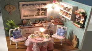 Miniature Dollhouse Kitchen Furniture 2 Tour Miniature Dollhouse Kitchen Miniatura De Casinha De