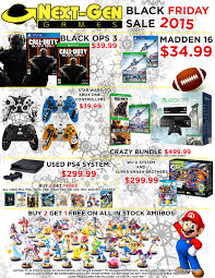 when is black friday ps4 black friday sales next gen games