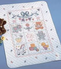 8 best baby quilts images on cross stitch kits baby