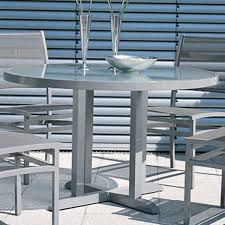 Aluminum Patio Dining Table Rausch Outdoor Aluminum Dining Table Homeinfatuation