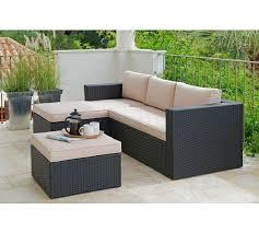 rattan corner sofa buy rattan effect 3 seater mini corner sofa black at argos co uk