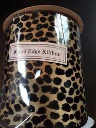 leopard ribbon animal print ribbon cheetah leopard ribbon safari ribbon brown