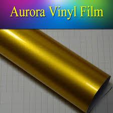 gold glitter car 2018 5 u0027 65 u0027 blue aurora vinyl film high glossy metallic vinyl film