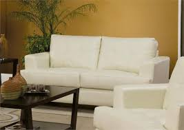 Cream Leather Sofa Set Samuel Collection Item - Cream leather sofas