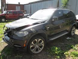 Bmw X5 Black - rear left interior door trim panel black leather walnut oem bmw x5