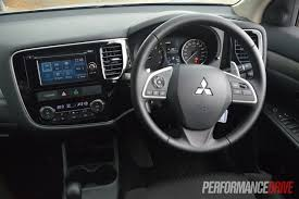mitsubishi outlander sport interior 2013 mitsubishi outlander review performancedrive