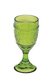 bicchieri verdi anton studio designs savoie set da 6 bicchieri vino verdi