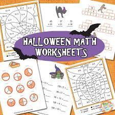 halloween math worksheets free kids printable kids activities