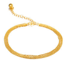 european bracelet designs images Tengyi fashion vintage european anklet yellow gold color four rows jpg