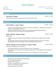 Kitchen Manager Resume Resume U2014 Nick Sidore