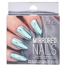 mint chrome powder nails kit icing us