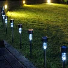 solar led christmas lights outdoor 10pcs lot christmas lights outdoor solar powered dip led lawn light
