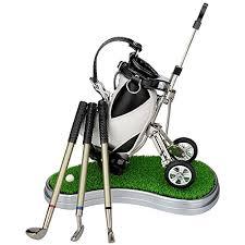 Office Desk Gifts Golf Gifts Pen Holder With 3 Pens Bag Decorations Office Desk