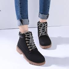 boots autumn winter shoes 2017 shoes ankle boot flat heel