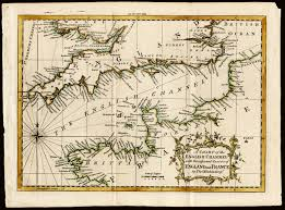 English Channel Map England A Chart Of The English Channel Thomas Kitchen 1758