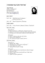 Job Resume Format Free Download by Job Cv Format Download