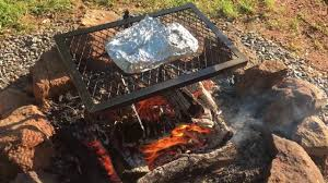Cooking Over Fire Pit Grill - bbq ribs on the fire pit youtube