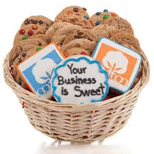 cookie gift basket your logo artwork cookie gift basket