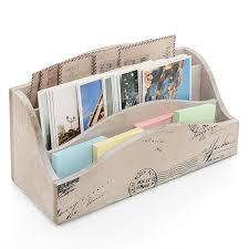 Desk Mail Organizer Juvale 3 Tier Wooden Mail Desktop Organizer Sorter