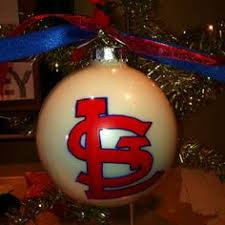 st louis cardinals ornament made from cardinals fabric cardinals