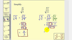 How To Simplify Your Home by Simplifying Radical Expressions With Fractions Youtube