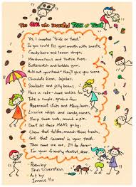 halloween trick or treat poems u2013 festival collections