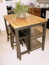 decor stenstorp kitchen island with shelf and butcher block for
