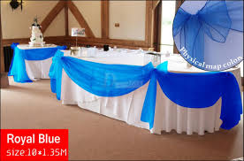 royal blue chair sashes sheer organza fabric wedding chair sash bow table runner swag