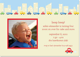 cars photo boy birthday invitations by boatman geller glee
